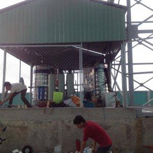 Lắp đặt dây chuyền lọc nước tại KCN Long Hậu Hòa Bình, Long An