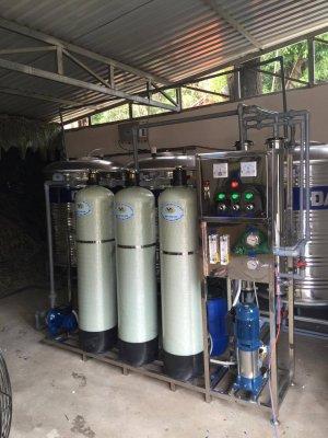 Dây chuyền lọc nước, hệ thống lọc nước đóng bình lắp đặt tại Thủ Thừa, Long An