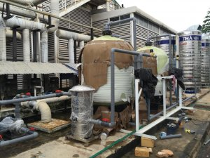 Dây chuyền làm mềm nước 20 khối/h KCN Bàu Xéo, Đồng Nai