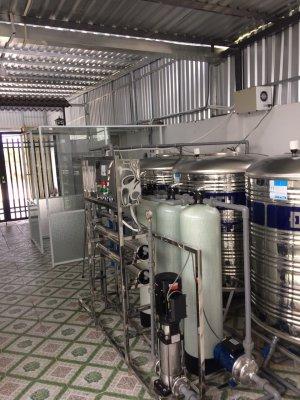 Dây chuyền lọc nước lắp đặt tại Mỹ KIm, Châu Thành, Tiền Giang