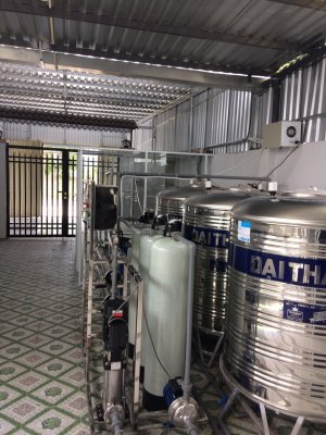 Dây chuyền lọc nước lắp đặt tại Lấp Vò, Đồng Tháp