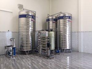 Dây chuyền lọc nước, hệ thống lọc nước đóng bình lắp đặt tại Cần Giờ, TP HCM
