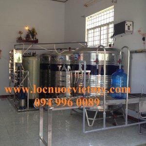 Dây chuyền xử lý nước nhiễm phèn Công suất 2000 lít/h Tại Vĩnh Long