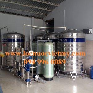 Dây chuyền lọc nước tinh khiết 2000 lít Tại Bình Tân